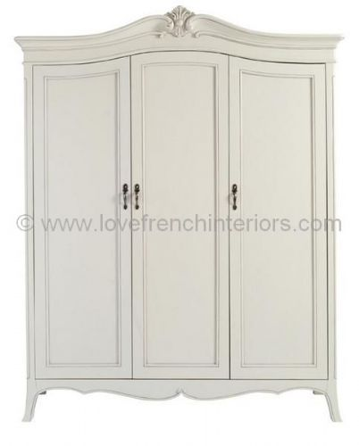 Paris Painted Triple Wardrobe